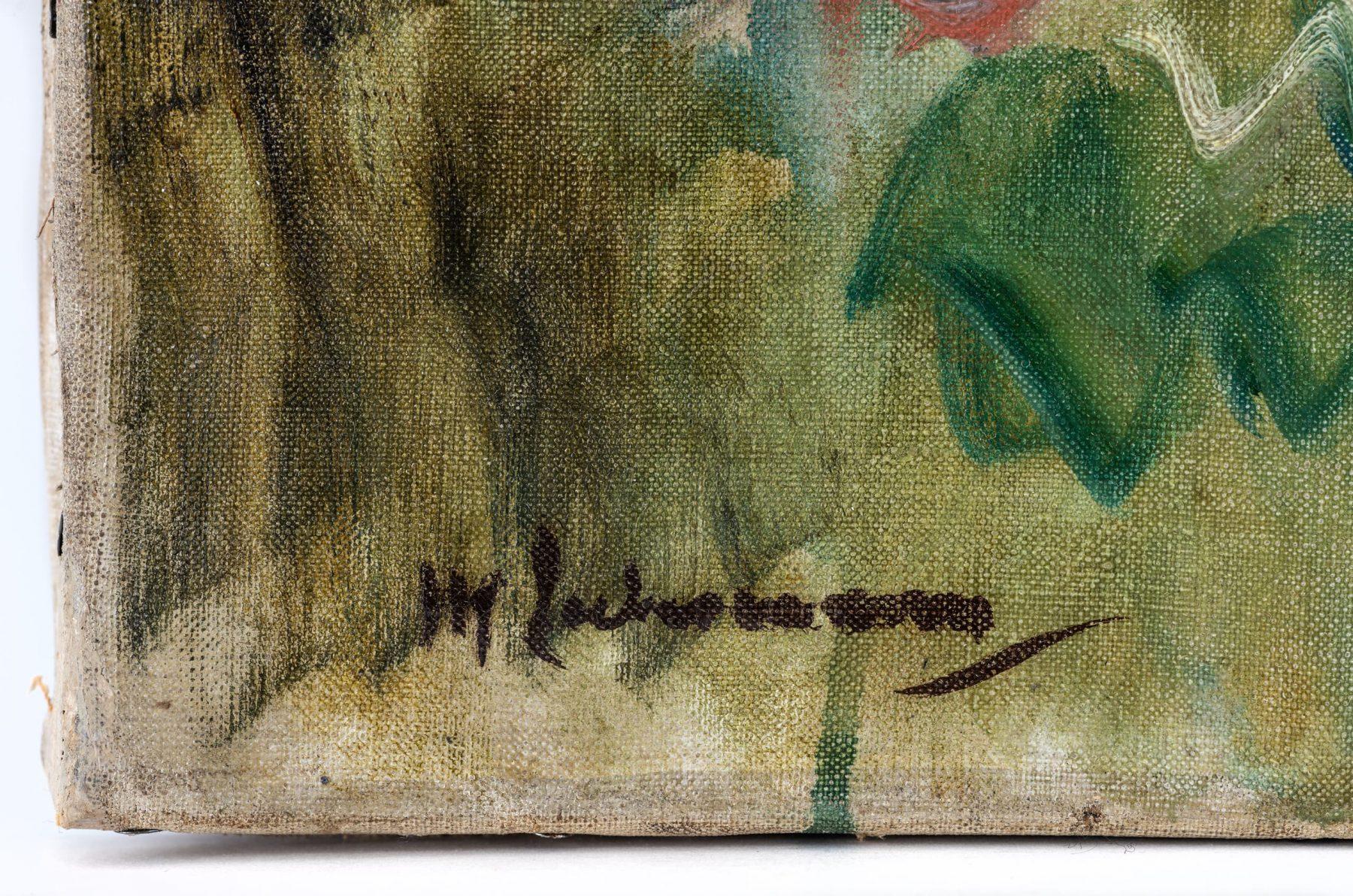 Detailansicht der Signatur von Max Liebermann auf einem Gemälde.