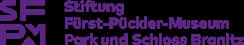 Logo mit den Worten Stiftung Fürst-Pückler-Museum Park und Schloss Branitz